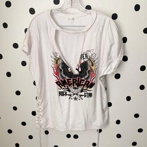 🔥30%OFF🔥Black bead front design shirt M